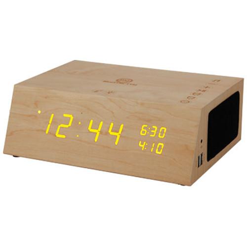 Accessory Power GOgroove BlueSYNC TYM+ Wireless Bluetooth Speaker Clock (Light Brown)
