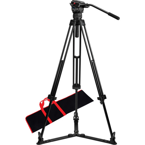 Acebil CS-08G Professional Tripod System with Ground-Level Spreader