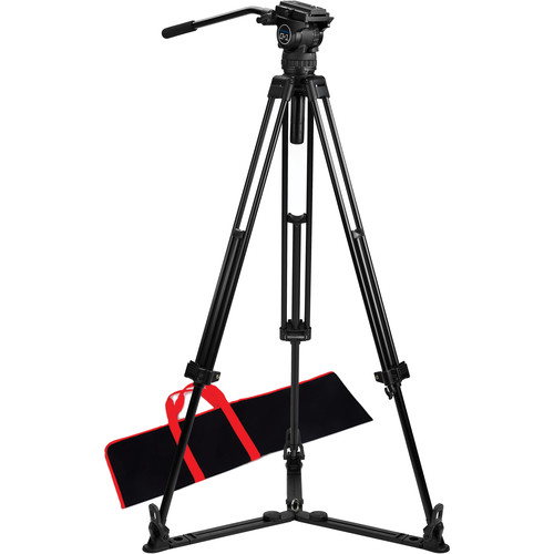 Acebil CS-18G Professional Tripod System with Ground-Level Spreader