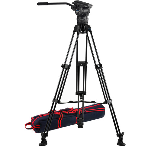 Acebil CS-780M Professional Tripod System with MS-5 Mid-Level Spreader