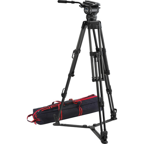 Acebil CS-992CG Professional Tripod System with 100mm Ball Base Tripod, CH9 Head, & Ground-Level Spreader