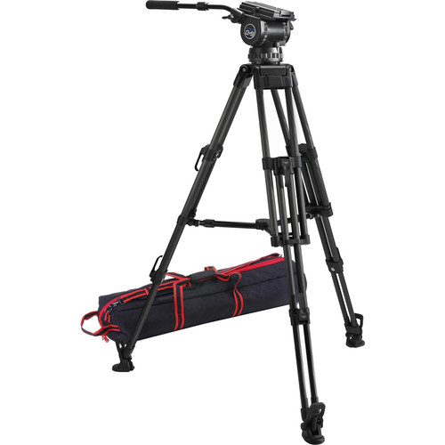 Acebil CS-992CM Professional Tripod System with 100mm Ball Base Tripod, CH9 Head, & Mid-Level Spreader