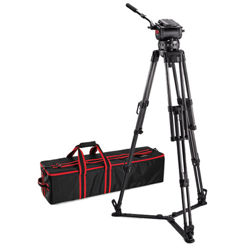 Acebil CS-XCG Tripod System with CH-X 150mm Ball Head, 2-Stage Carbon Fiber Tripod, & Ground-Level Spreader