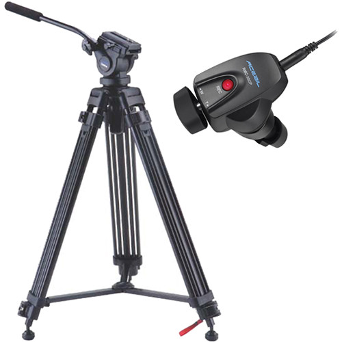 Acebil i-605DX Prosumer Tripod System with RMC-3SCP Video Lens Zoom Controller