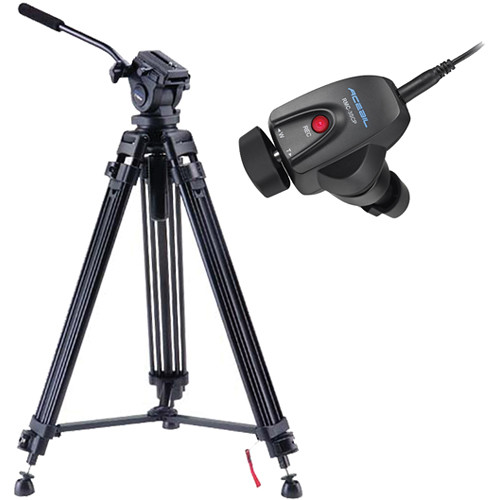 Acebil i-705DX Prosumer Tripod System with RMC-3SCP Video Lens Zoom Controller