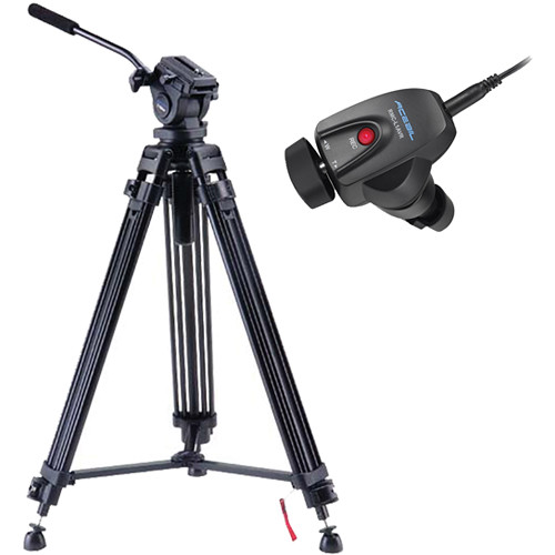 Acebil i-705DX Prosumer Tripod System with RMC-L1AVR Video Lens Zoom Controller