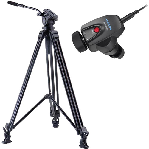 Acebil J-805MX Prosumer Tripod System with RMC-3SCP Video Lens Zoom Controller
