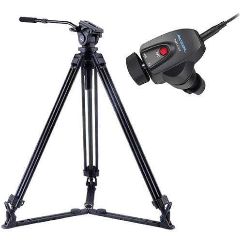 Acebil J-805GX Tripod & Zoom Controller Kit for Sony/Canon LANC Cameras