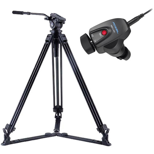 Acebil J-805GX Tripod & Zoom Controller Kit for Sony/Canon LANC Cameras