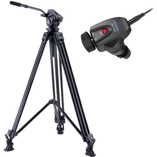 Acebil J-805MX Prosumer Tripod System with RMC-1AVR Video Lens Zoom Controller
