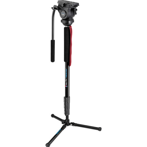 Acebil mp-70V(B) Aluminum Video Monopod with Pan/Tilt Head and MBPS Floor Stand