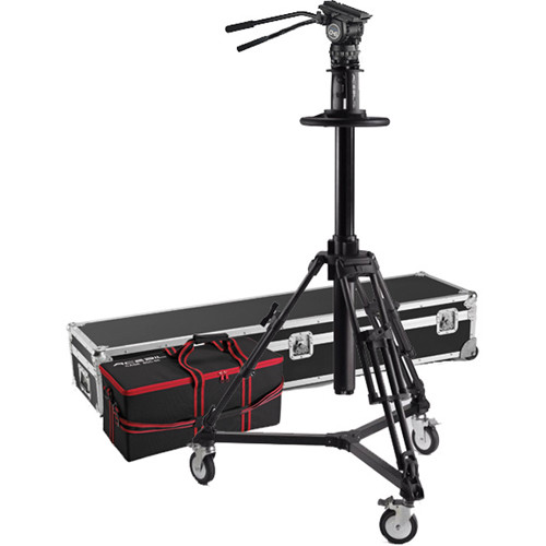 Acebil PD3800 Pedestal with Carrying Case, D7 Dolly, CH6 Head, PB-5CS(L) Pan Bar