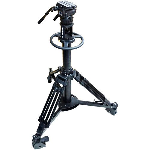 Acebil Pedestal PD3800 with Carrying Case + Dolly D9 + CH6 Head with Dual Pan Bars