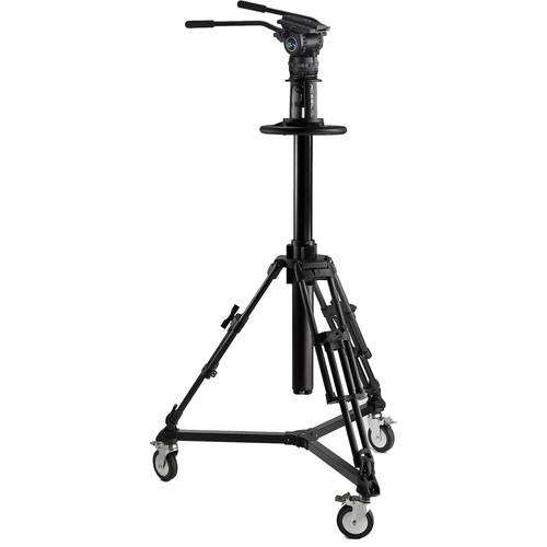 Acebil PD3800 Pedestal with Carrying Case + Dolly D5 + CH7 Head with Dual Pan Bars