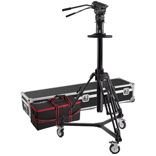 Acebil PD3800 Pedestal with Carrying Case, D5 Dolly, CH7 Head, PB-5CS(L) Pan Bar