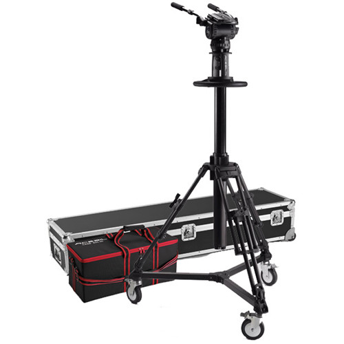 Acebil PD3800 Pedestal with Carrying Case, D7 Dolly, CH8 Head, PB-5C(L) Pan Bar