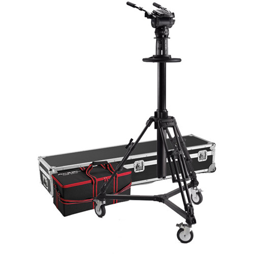 Acebil PD3800 Pedestal with Carrying Case, D7 Dolly, CH9 Head, PB-5C(L) Pan Bar