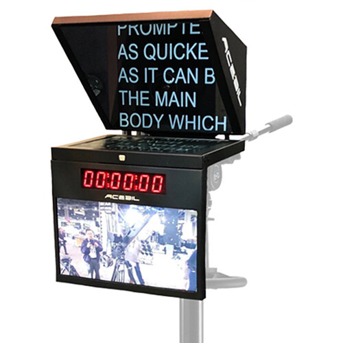 """Acebil 17"""" Studio Prompter System with Time Code Clock, Talent Monitor, and Controller"""