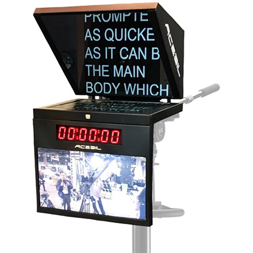 """Acebil 19"""" HBStudio Prompter System with Time Code Clock, Talent Monitor, and Controller"""