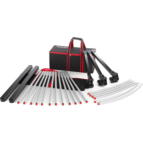 Acebil TR-480C Track Rail System with 90-Degree Curved Set, Dolly, and Cases