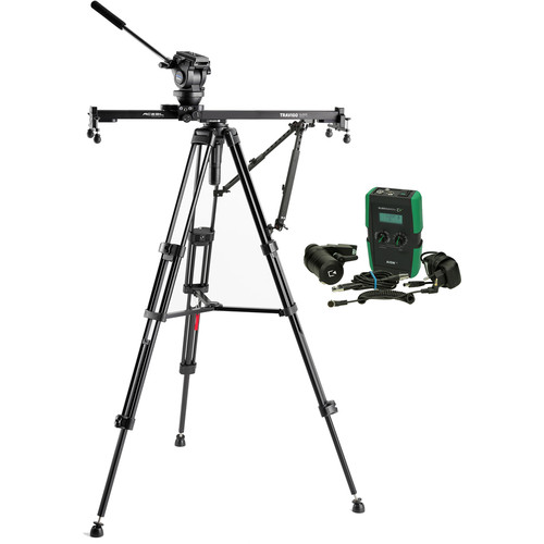 Acebil Travigo 1000 Basic Slider Kit with I-705DX Dual Tripod, HSTA-2 Dual Arm & HDN-DC Drive