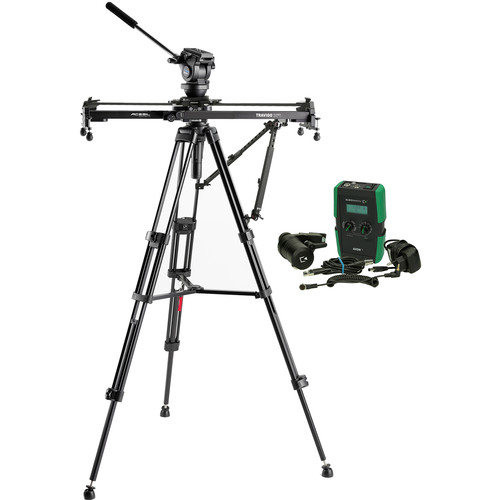 Acebil Travigo 1000 Basic Slider Kit with I-705DX Dual Tripod, HSTA-2 Dual Arm, SE1000 & HDN-DC Drive
