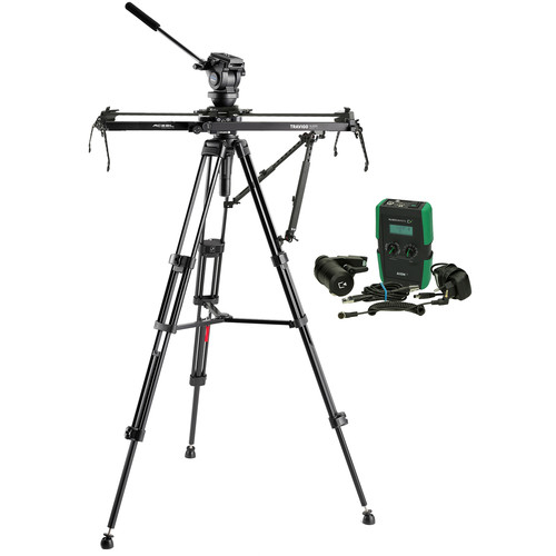 Acebil Travigo 1000 Pro Slider Kit with I-705DX Dual Tripod, HSTA-2 Dual Arm, SE1000 & HDN-DC Drive