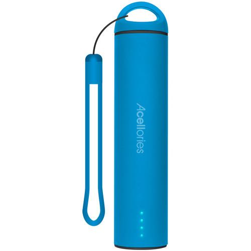 Acellories 2000mAh Pillar Rubberized Power Bank (Blue)
