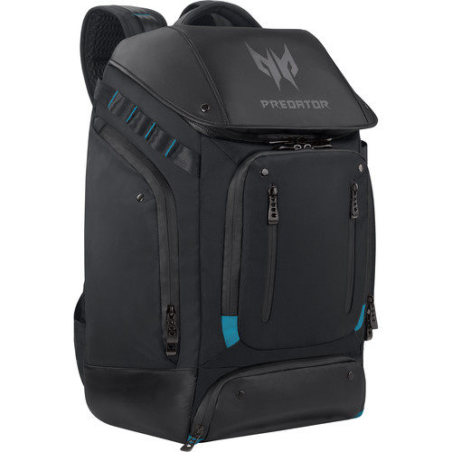 """Acer Predator 17.3"""" Laptop Gaming Utility Backpack (Black with Teal Accents)"""