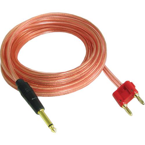 """Acesonic USA 18 AWG Banana Plug to 1/4"""" TS Speaker Cable (15')"""