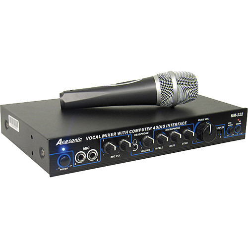 Acesonic USA KM-112 Karaoke Vocal Mixer with USB Interface