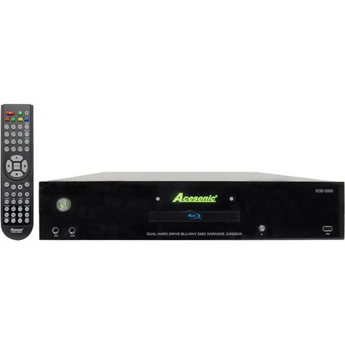 Acesonic USA KOD-3000 Dual Hard Drive Blu-ray Disc Karaoke Jukebox (8TB HDD)