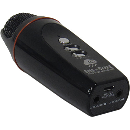 Acesonic USA Sing-N-Share Pro Portable Karaoke Mic for iOS (Black)