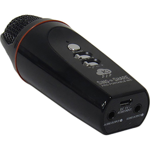 Acesonic USA Sing-N-Share Pro Portable Karaoke Mic for Android (Black)