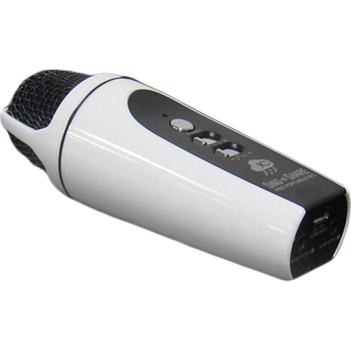 Acesonic USA Sing-N-Share Pro Portable Karaoke Mic for iOS (White)