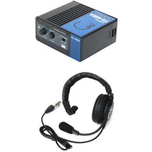 ACETEK BNC Cable Connect Intercom Portable Unit with Double-Ear Closed-Type DL-550 Headset