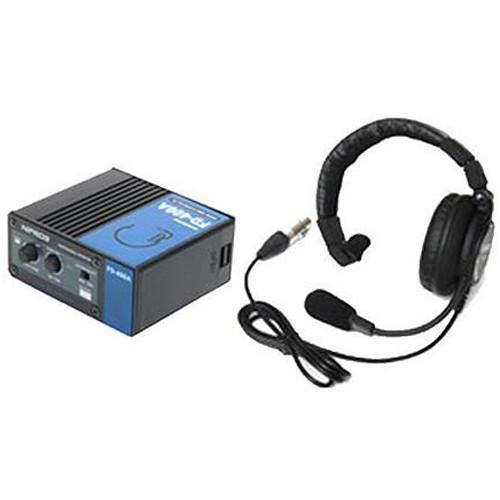 ACETEK BNC Cable Connect Intercom Portable Unit with Single-Ear Closed-Type DL-500 Headset