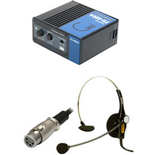 ACETEK BNC Cable Connect Intercom Portable Unit with Single-Ear Open-Type DL-400 Headset