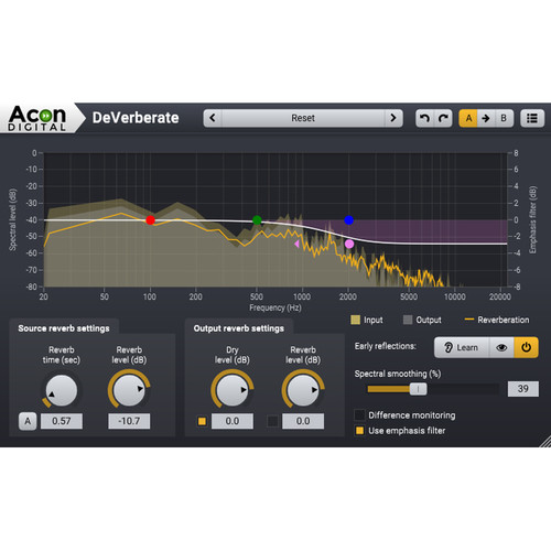 Acon Digital DeVerberate 2 - Reverb Reduction Plug-In with Early Reflection Filter (Download)