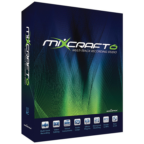 Acoustica Mixcraft 6 - Music Production Software (Academic 25-49 Licenses - Price per License)