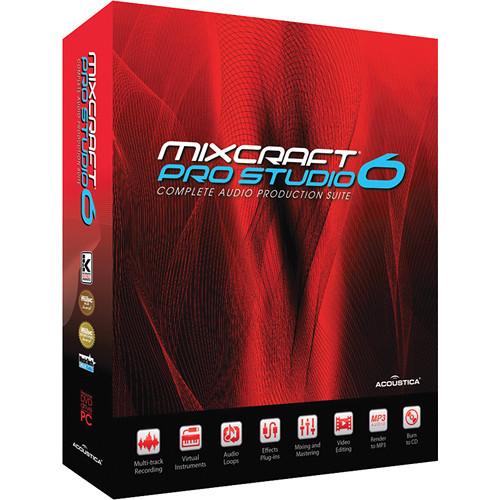 Acoustica Mixcraft Pro Studio 6 - Multi-Track Recording Software (Educational Discount - Single)