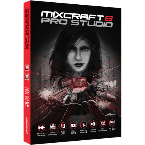 Acoustica Mixcraft 8 Pro Studio - Music Production Software (Educational, Boxed)