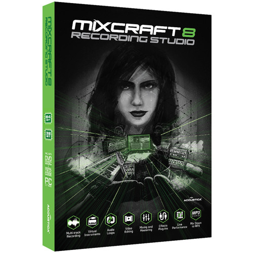 Acoustica Mixcraft 8 Recording Studio - Music Production Software (Educational, Download)