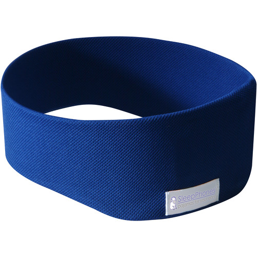 AcousticSheep SleepPhones Wireless Headphones (X-Small/Small, Fleece, Royal Blue)