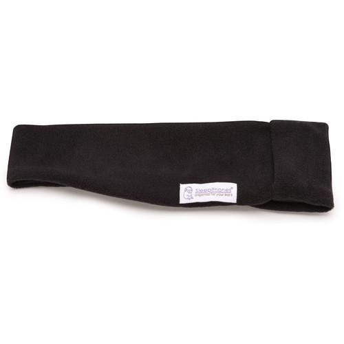 AcousticSheep SleepPhones Wireless Headphones (Large/X-Large, Fleece, Midnight Black)