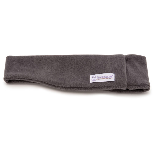 AcousticSheep SleepPhones Wireless Headphones (M, Fleece, Soft Gray)