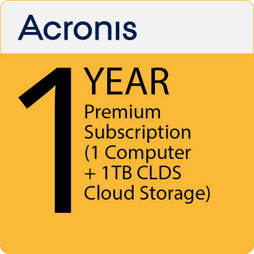 Acronis 1-Year True Image 2019 Premium Subscription with 1TB Cloud Storage (1 Computer)