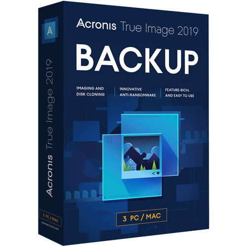 Acronis 1-Year True Image 2019 Essential Subscription (3 Computers)