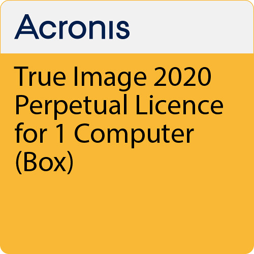 Acronis True Image 2020 (1 Computer, Perpetual, Retail Box)