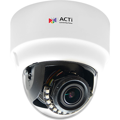 ACTi A61 3MP 4.3x Zoom Network Dome Camera with Night Vision